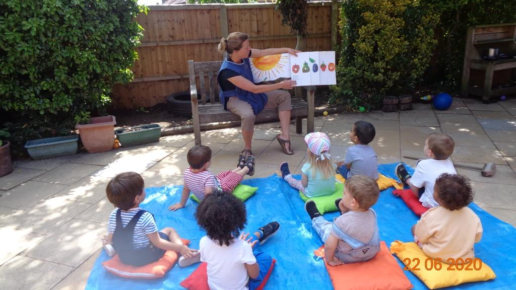Storytime in the garden